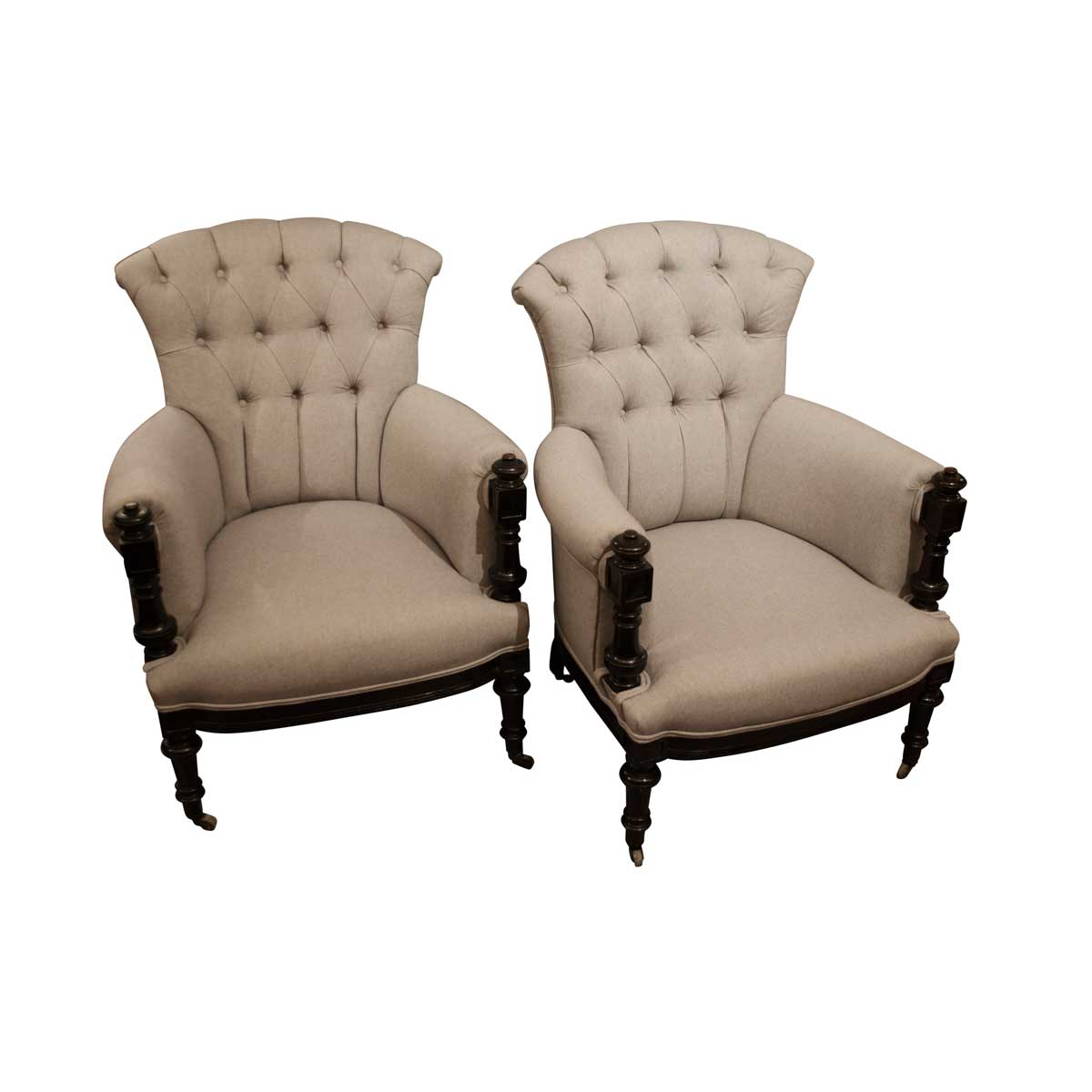 19th Century French Upholstered Armchairs