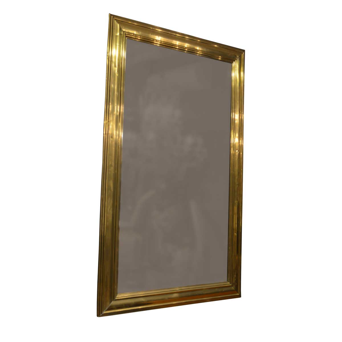 19th Century Antique French Brass Mirror