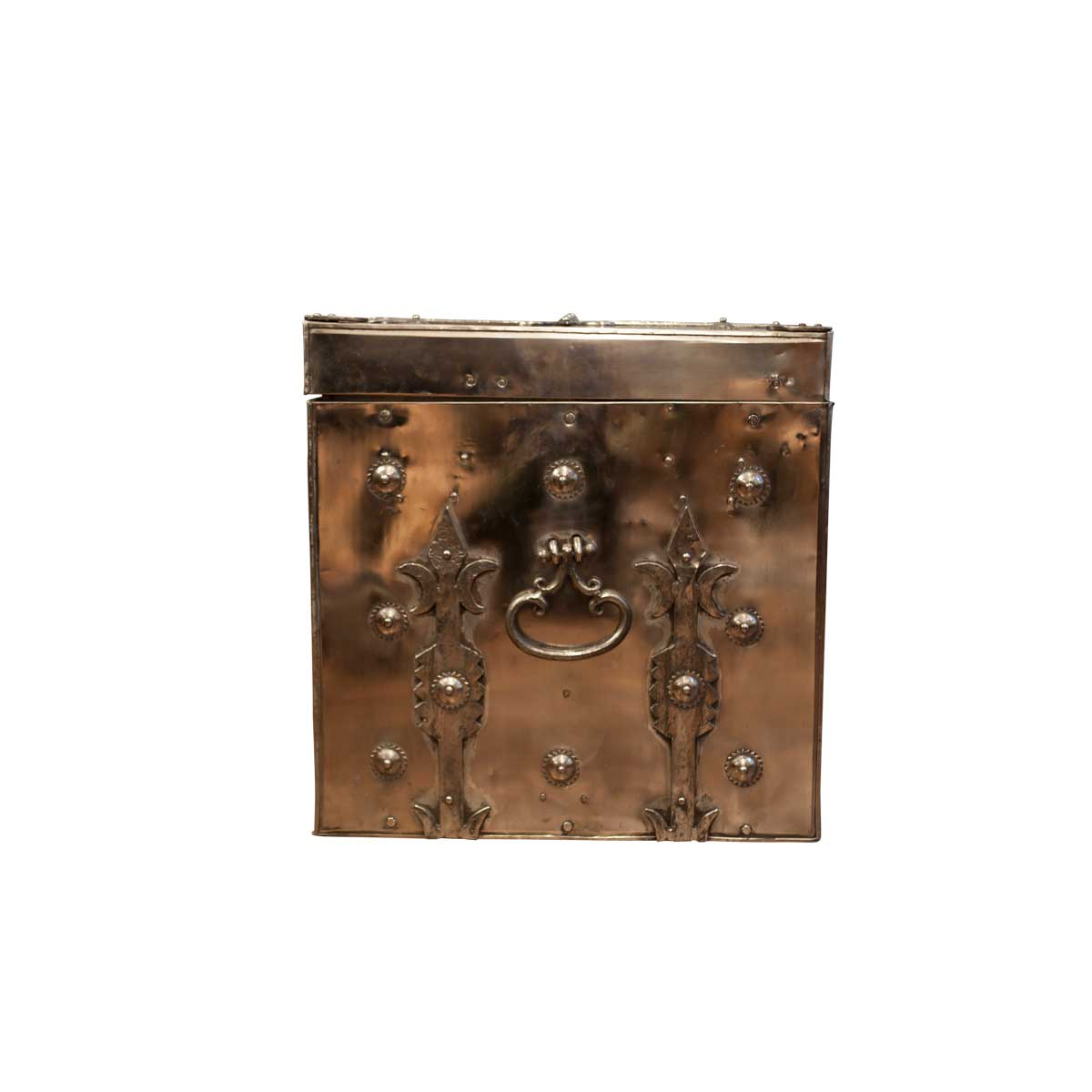 Decorative Polished Steel Trunk, Mid 20th Century.