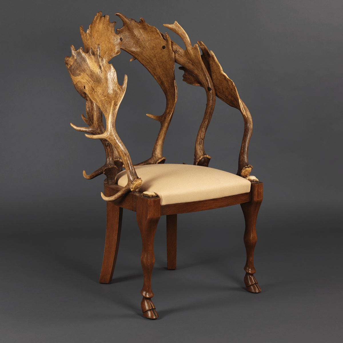 Fallow Horn and Cowhide Chairs