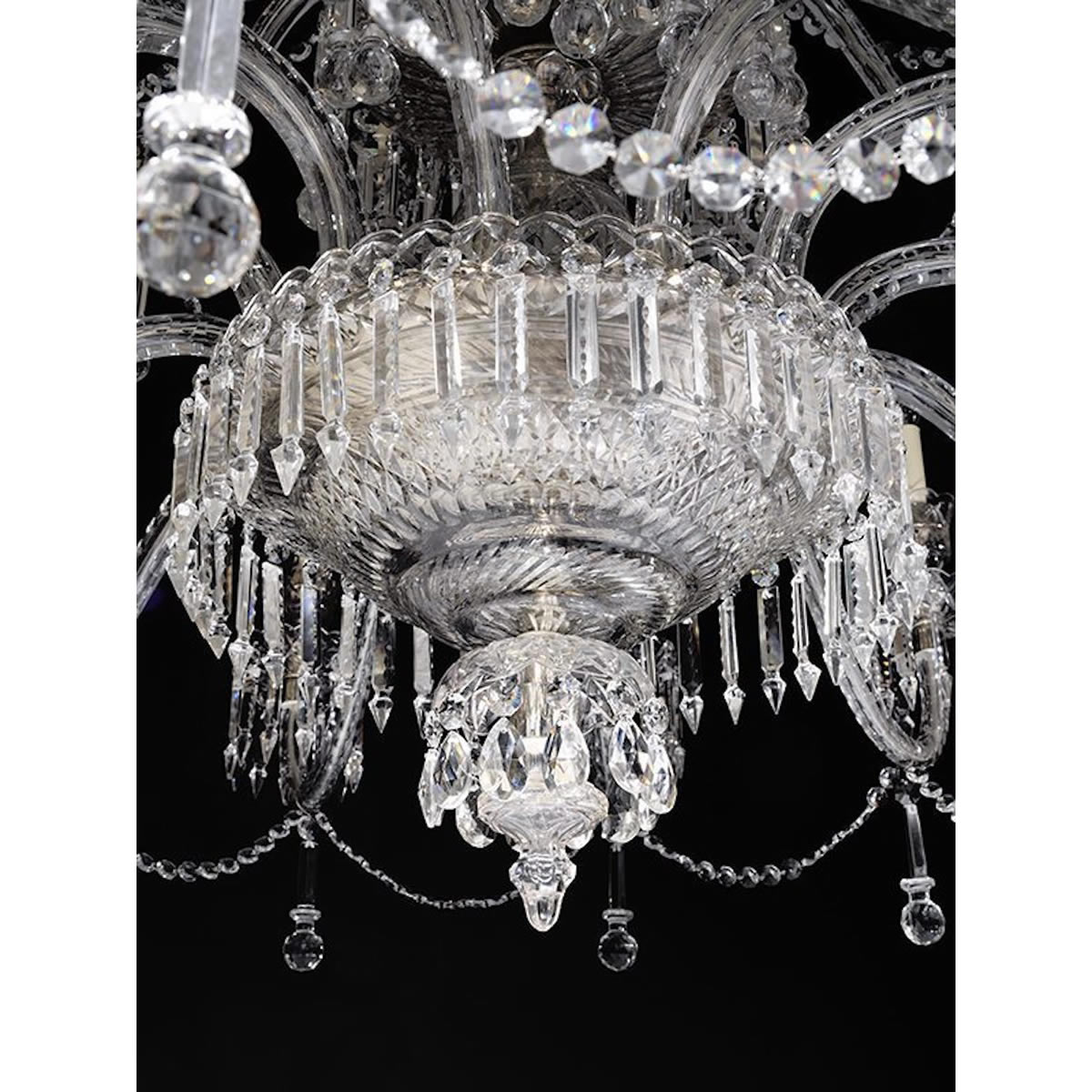 The Manhattan Cut Glass and Crystal Chandelier