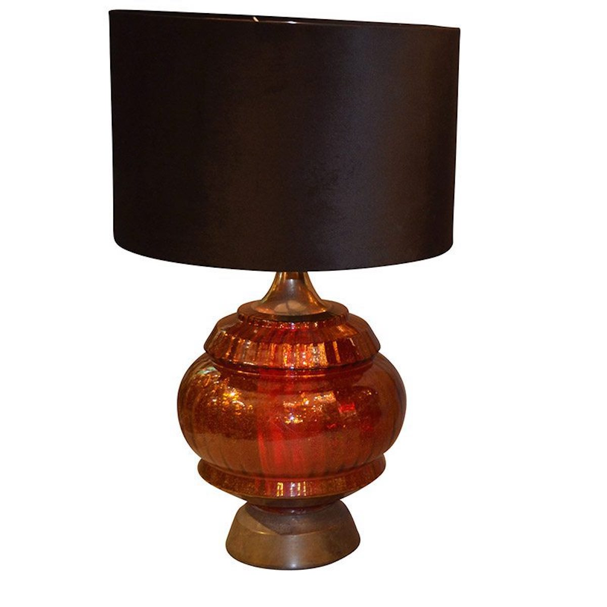 A Pair of Mid 20th Century Continental Red Glazed Lamps