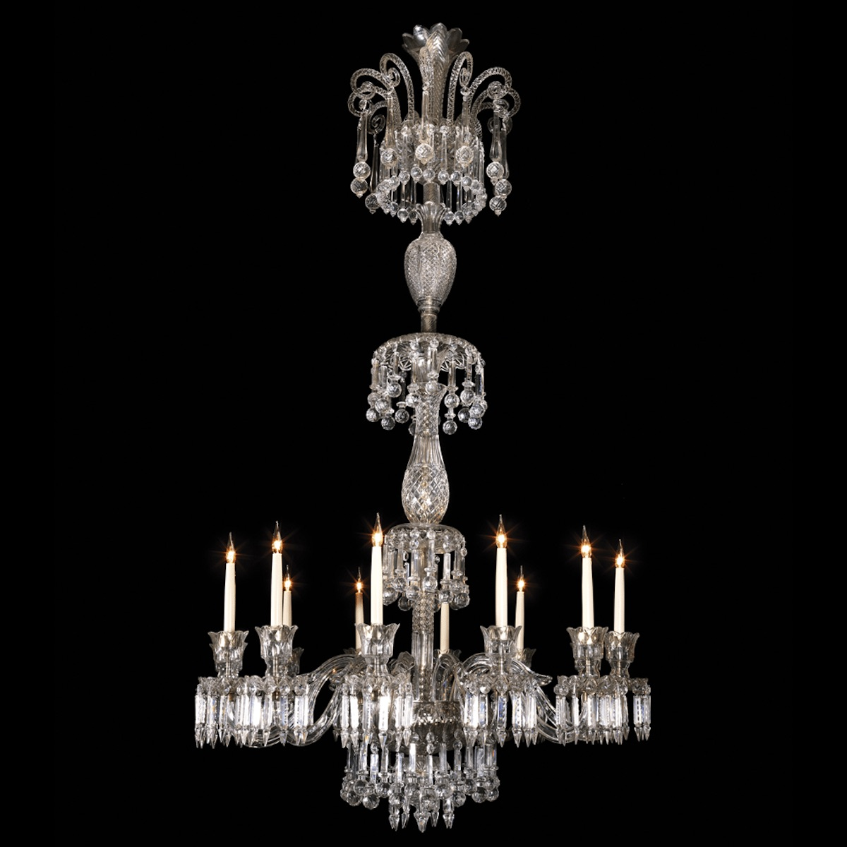 Large and Impressive Cut Crystal Wellington Chandelier